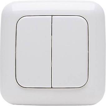Kopp livre de controle 4 canais sem fio parede interruptor branco alpino do padrão 2/4