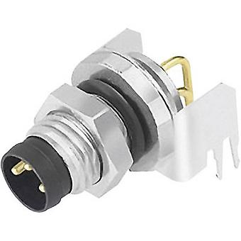 Sensor/actuator built-in connector M8 Plug, right angle No. of