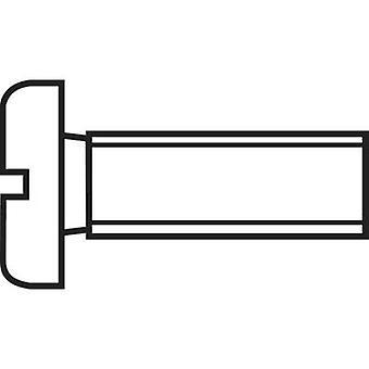 TOOLCRAFT 815578 Allen screws M2.5 10 mm Slot DIN 84 Steel zinc plated 100 pc(s)