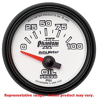 Auto Meter Phantom II Gauge 7527 2-1/16in Range: 0-100psi Fits:UNIVERSAL 0 - 0