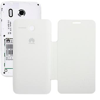 Mobile case across white flip for cell phone Huawei Ascend Y320