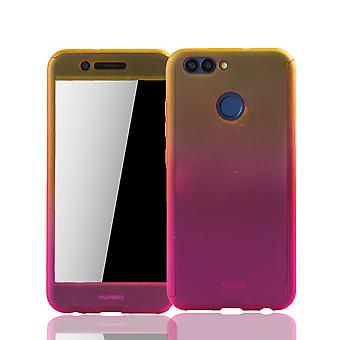 Huawei Nova 2-case protection-case full cover tank protection glass yellow / pink