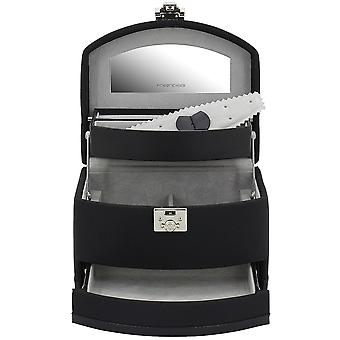 Jewelry box jewelry box Friedrich black with mirror polyester automatic trade