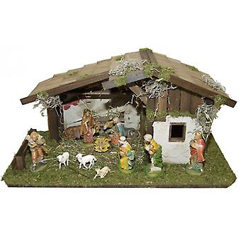 Nativity scene wood Nativity scene Christmas Nativity stable Holy Nativity
