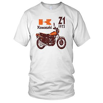 Kawasaki Z1 73 Classic Bike Mens T Shirt