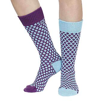 Jamison recycled cotton patterned odd-socks in crush | By Sidekick