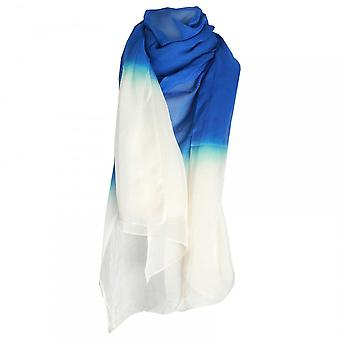 Marie Mero Lightweight Blue Gradient Design Scarf
