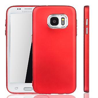 Samsung Galaxy S7 borda - caso de telefone celular para Samsung Galaxy S7 borda - móvel caso em vermelho