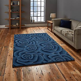 Valentine VL10 Blue  Rectangle Rugs Modern Rugs