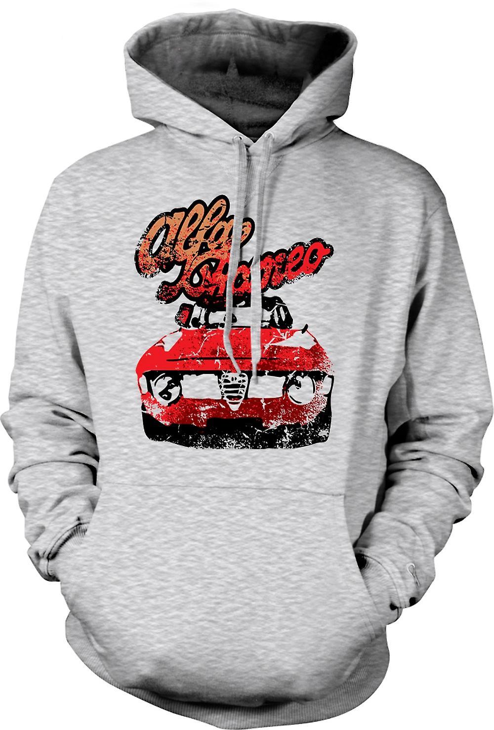 Mens Hoodie - Alfa Romeo Auto d'epoca