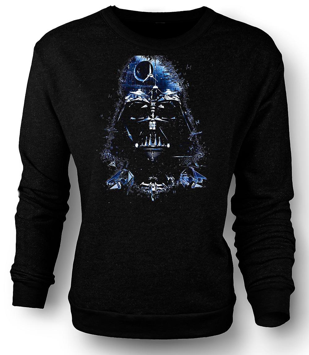 Mens Sweatshirt Darth Vader - Death Star