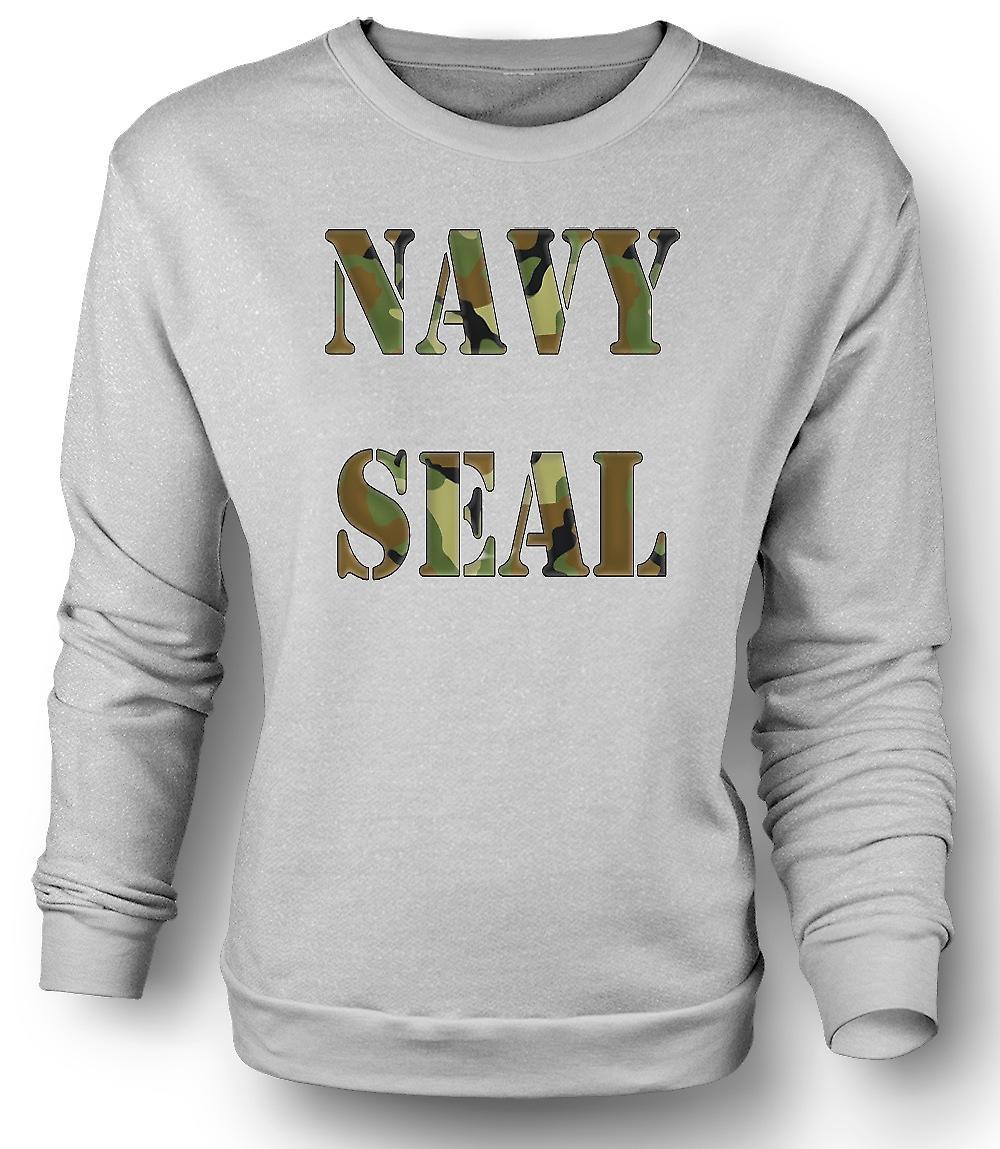 Mens Sweatshirt US Navy Seals Elite