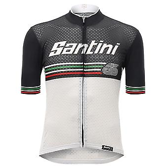 Santini White 2017 Beat Short Sleeved Cycling Jersey