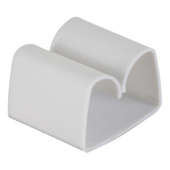 Self-adhesive cable clip in plastic 2 packs