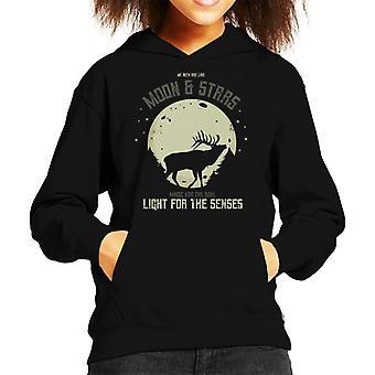 We als de maan en de sterren Kid's Hooded Sweatshirt zijn herten