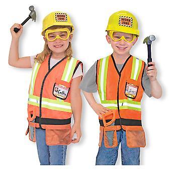 Childrens Melissa en Doug bouwvakker Fancy Dress kostuum