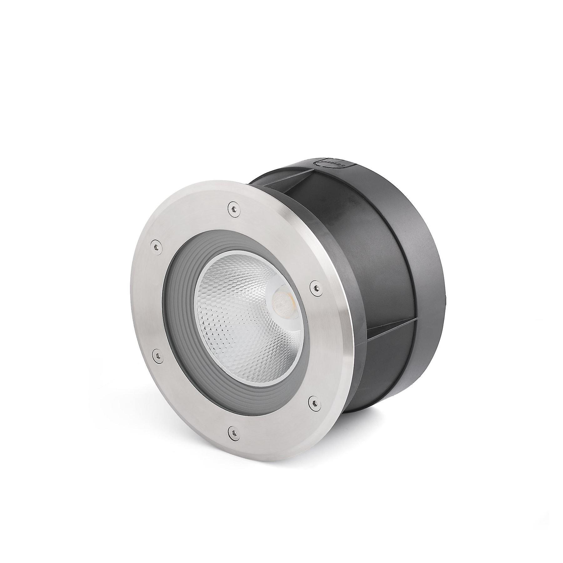 Faro - Suria-24 Matt Nickel LED Recessed de plein air Spotlumière - grand Beam Angle FARO70587