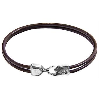 Anchor and Crew Cromer Round Leather Bracelet - Mocha Brown