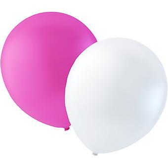 Globos paquete de 100 color de rosa y blanco-30 cm (12