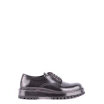 Car Shoe Black Leather Lace-up Shoes
