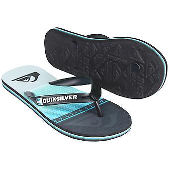 Quiksilver Mens Molokai Highline skive sandaler - svart/blå/grå