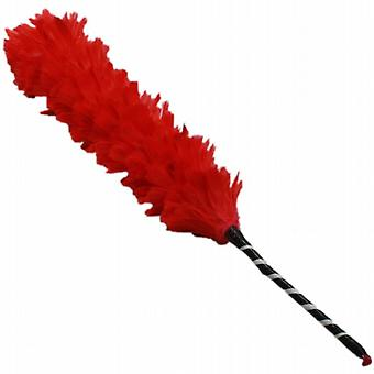 65Cm Large Funky Colourful Feather Dusters Cleaning Home Scarlet Red (HH0483RD)