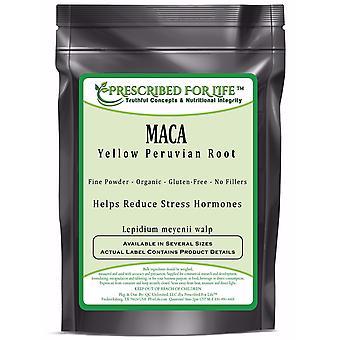 Maca - Pure Yellow Peruvian Root (Lepidium meyenii) ING: Organic Powder