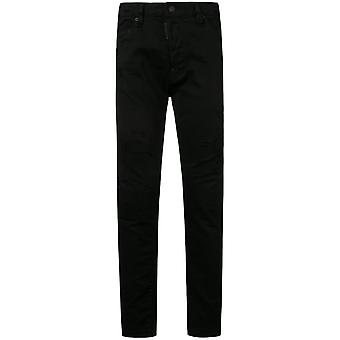 Dsquared2 Plain Slim Fit Jeans Black