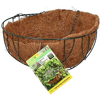Hanging Flower Plant Planter Basket with Coconut Moss Liner Stylish