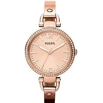 Fossil Georgia Rose Gold-Tone Bangle Ladies Watch ES3226