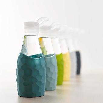 CREADYS Glass Bottle with Silicone Sleeve 250ml - Various Colours