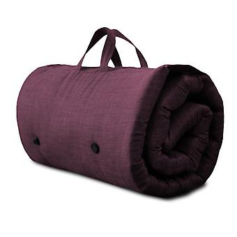 Roll Up Futon Mattress with Carry Handle - Plum
