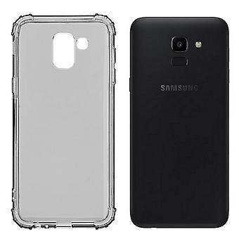 Bagcover stødsikker TPU 1,5 mm Samsung A6 plus 2018 transparent sort