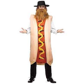 Kosher varmkorv judisk Rabbi snabbmat rolig vuxen mens kostym & hatt Payis