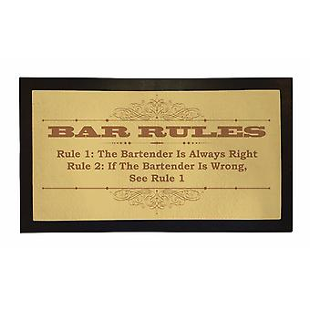 Printed Bar Runner Bar Rules Flag Rubber Bar Mat Mens Gift Idea