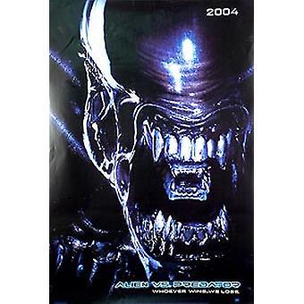 Alien vs Predator (Alien kaksipuolinen ennakko) alkuperäinen elokuva-juliste