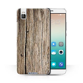 STUFF4 Case/Cover for Huawei Honor 7i/ShotX/Driftwood/Wood Grain Pattern