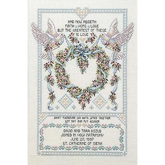 Platinum Collection Wedding Doves Counted Cross Stitch Kit 12