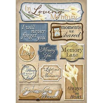 In Loving Memory Cardstock Stickers 5.5