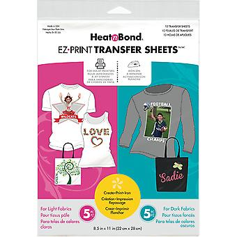 Heat Bond Ez Print Transfer Sheet Combo 8,5