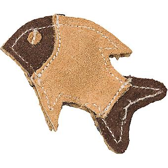 Dura Fused Leather Cat Toy -Fish 4