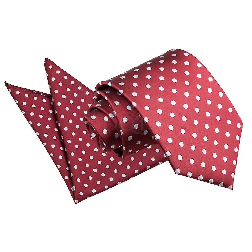 Polka Dot Burgundy Tie 2 pc. Set