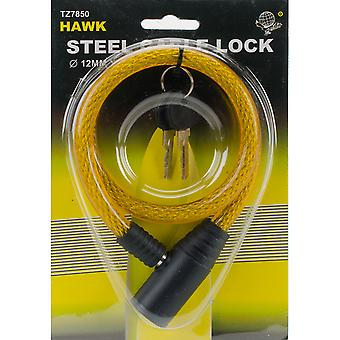 Long Steel Cable Lock W/Keys 25