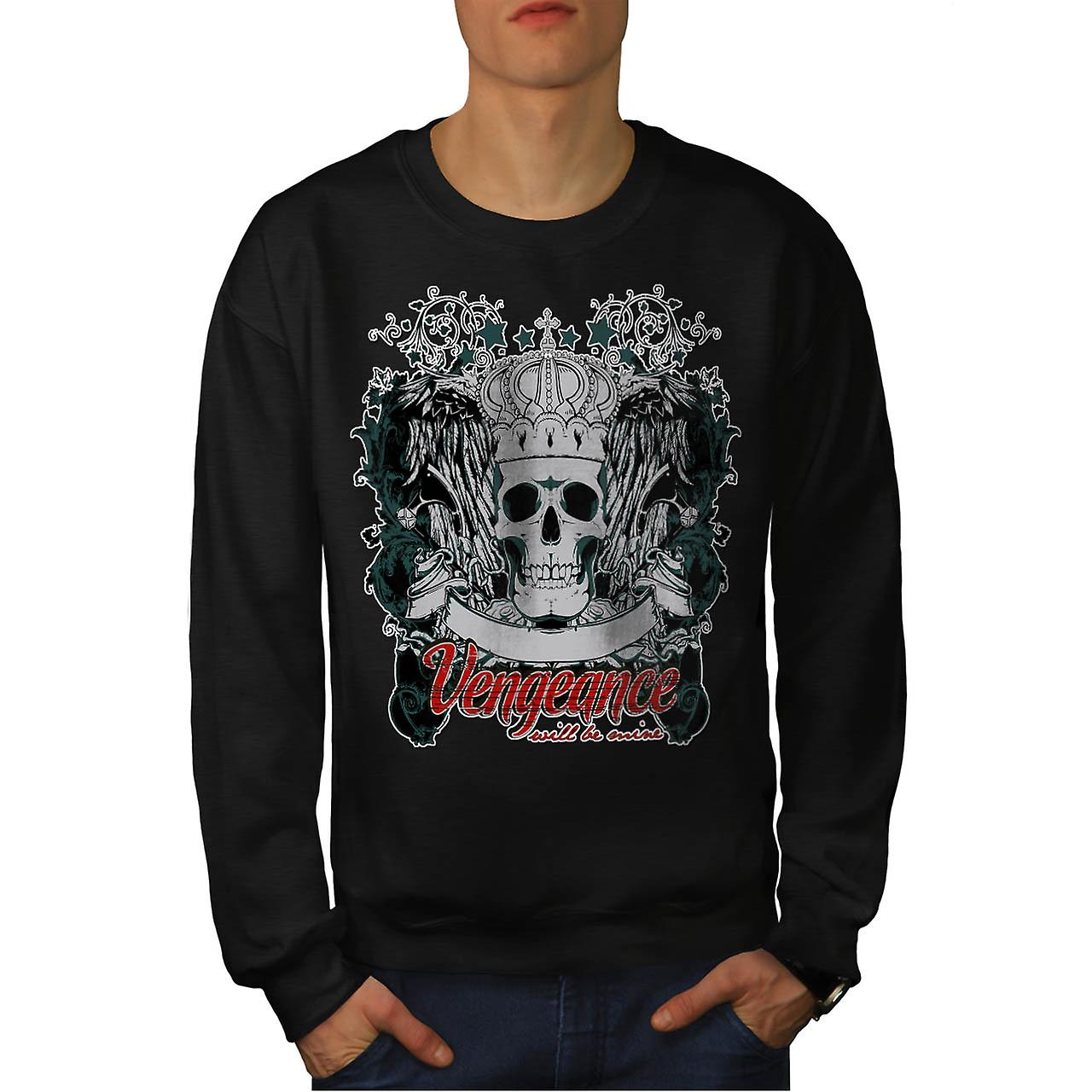 Vengeance Revenge Eye Thrones Men Black Sweatshirt | Wellcoda