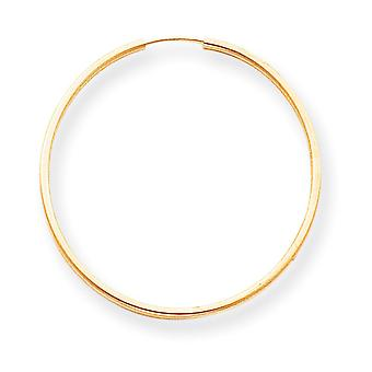 14k Gold Endless Hoop Earrings - .8 Grams - Measures 32x32mm