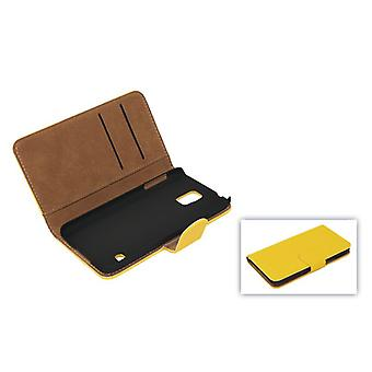 Cover cell phone case (flip cross) for mobile Samsung Galaxy S5 / S5 neo yellow