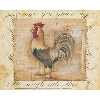 Rustikales Bauernhaus Hahn II Poster Kunstdruck von Kimberly Poloson