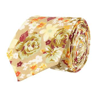 Mr. icone narrow tie beige floral