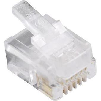 BEL Stewart Connectors 940SP3066R RJ12 Plug, straight Glassy