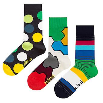 Diversity Gift Bundle | 3 pairs of combed cotton crew socks by Ballonet